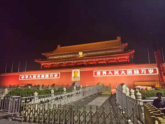 北京天安门夜景