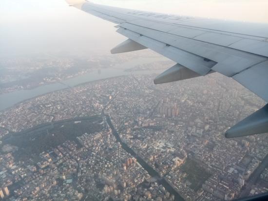 飞机上看城市群