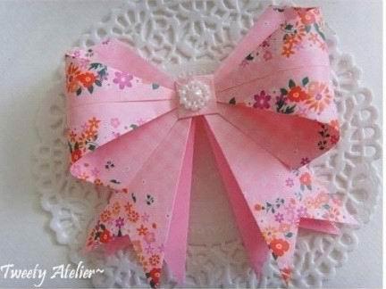 蝴蝶结折纸